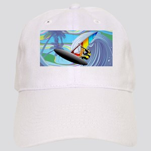 Windsurfer on Ocean Waves Baseball Cap