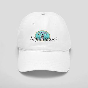 I Love Lighthouses Baseball Cap