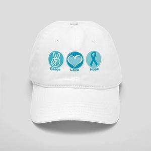 Peace Love Teal Hope Cap