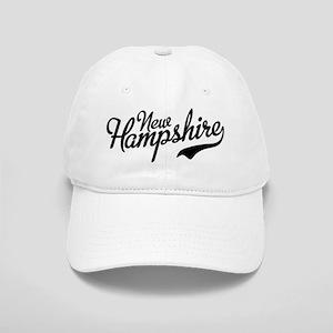 New Hampshire Script Font Vintage Baseball Cap