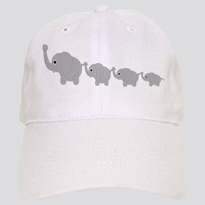 Elephants Design Cap