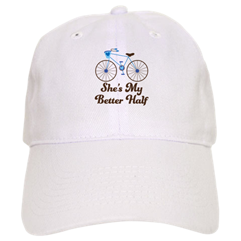 shes my better half quote mens bike design baseball cap
