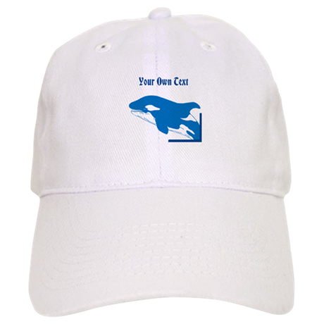 Whale in Blue, Custom Text Cap