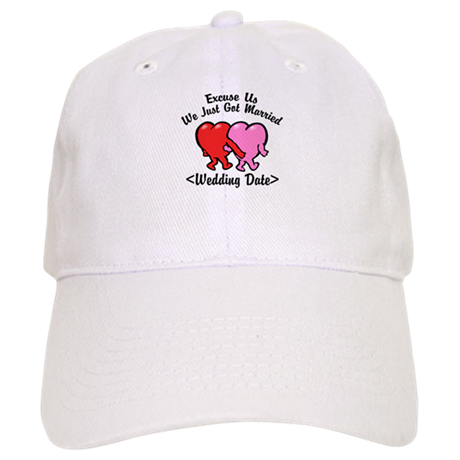 Funny Just Married (Add Wedding Date) Cap