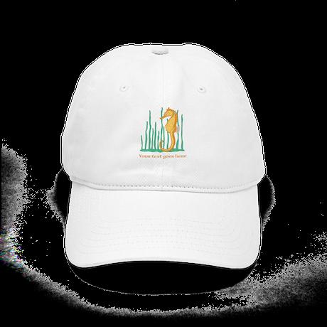 Personalized Orange Seahorse Cap