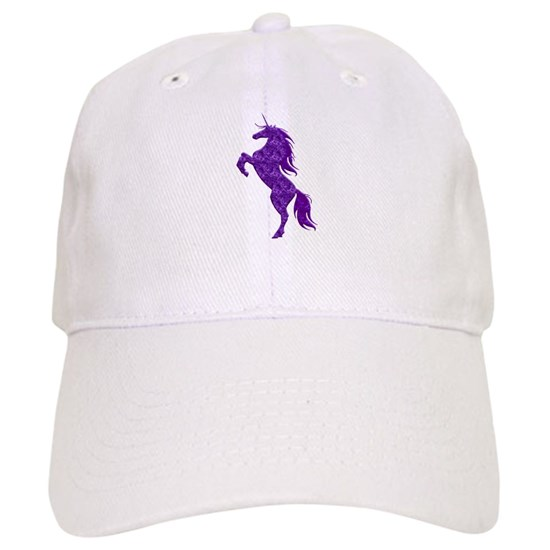 bbad0ddb744d2 Purple Unicorn Baseball Cap by atteestude - CafePress