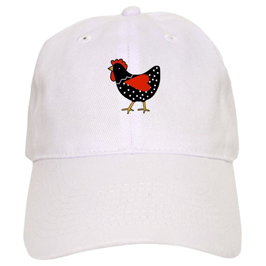9247dcdfb Cute Polka Dot Chicken Baseball Cap