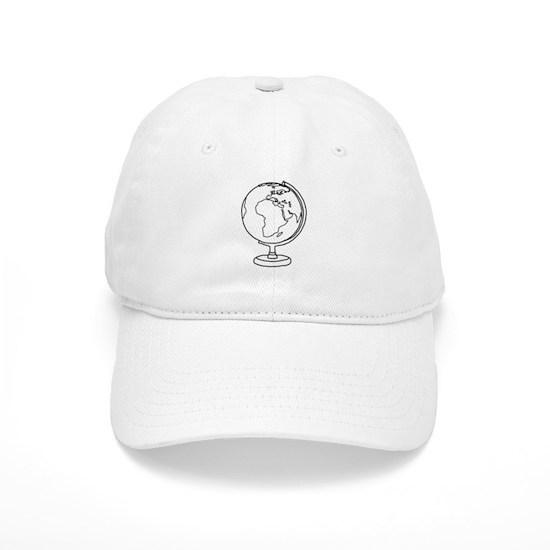 34539094d8376 Minimalist Globe Cap by Axial-Designs - CafePress