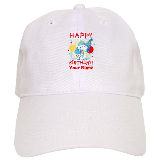 Peanuts Happy Birthday Red Personalized