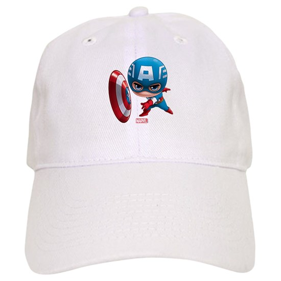 c1c0292270701f Chibi Captain America Stylized Cap by Marvel - CafePress