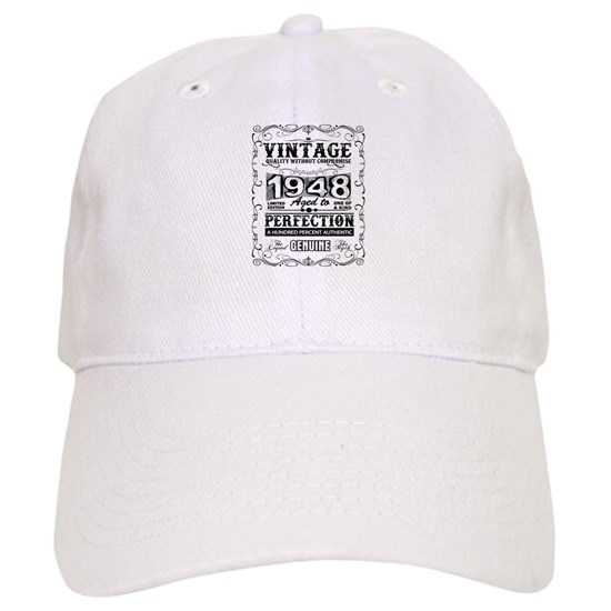 4c5fd432 Vintage 1948 aged to perfection Cap by designshop - CafePress
