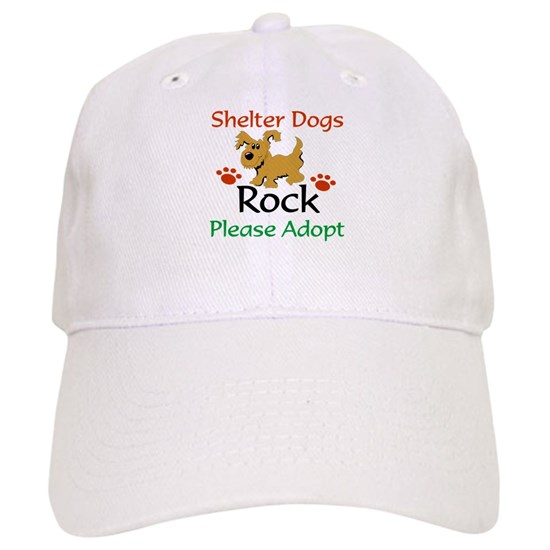 5d2de78a3 Shelter Dogs Rock Please Adopt Baseball Cap by SpoilMyDoggie.com ...