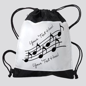 Music Notes PERSONALIZED Drawstring Bag