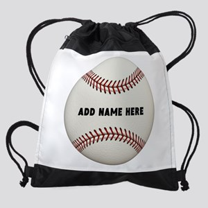Customize Baseball Name Drawstring Bag