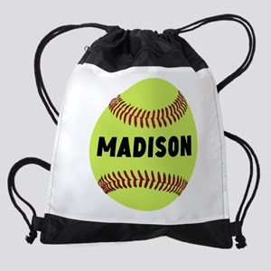 Softball Personalized Drawstring Bag
