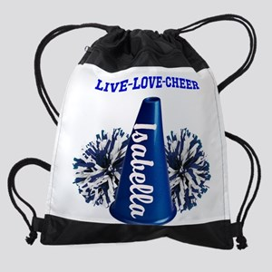 cheerleader personalize Drawstring Bag