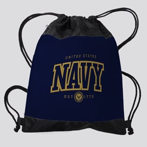 United States Navy Athletic Drawstring Bag