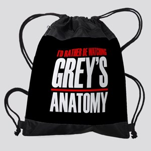 I'd Rather Be Watching Grey's Anatomy Drawstring B