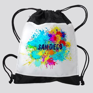 SAN DIEGO CALIFORNIA BURST Drawstring Bag
