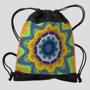 17 Laptop Sleeve Retro Sunburst Drawstring Bag