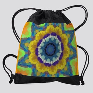 15 Laptop Sleeve Retro Sunburst Drawstring Bag