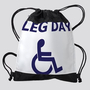Leg Day Wheelchair Drawstring Bag