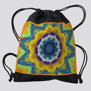 13 Laptop Sleeve Retro Sunburst Drawstring Bag