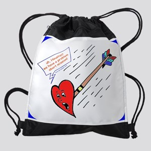 Burp Cloth Valentine Arrow Drawstring Bag