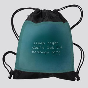 Bedbug Blue Burp Cloth Drawstring Bag