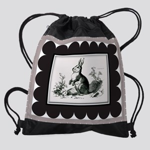Burp Cloth Forest Bunny Drawstring Bag