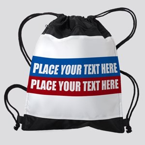 America Text Message Drawstring Bag