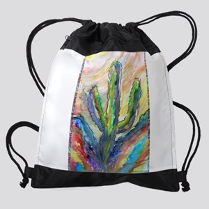 Cactus, southwest art! Drawstring Bag