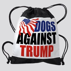 Dogs Against Trump Drawstring Bag