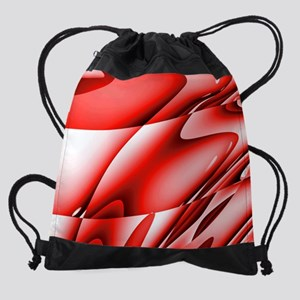 Red Abstract Art Laptop Sleeve Drawstring Bag