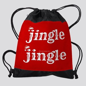 15 inch Laptop Sleeve Santa Jingle Drawstring Bag