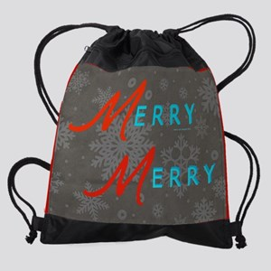 15 inch Laptop Sleeve Merry Snowfla Drawstring Bag
