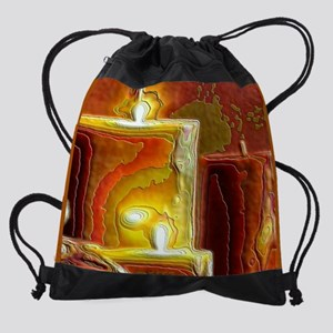 Holiday Light 15 inch Laptop Sleeve Drawstring Bag