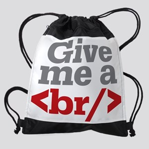 Give Me A Break HTML Drawstring Bag