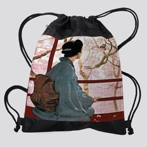 The-Diary-of-a-Geisha---The-Journal Drawstring Bag
