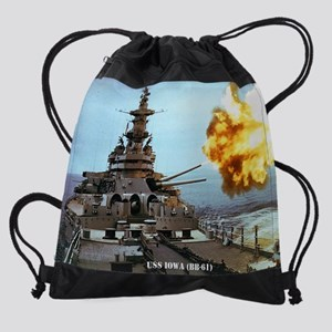 iowa calendar Drawstring Bag