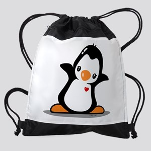 Hey Penguin! Drawstring Bag