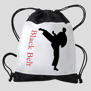 Black Belt Drawstring Bag
