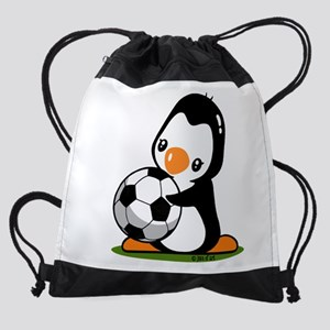 I Love Soccer (5) Drawstring Bag