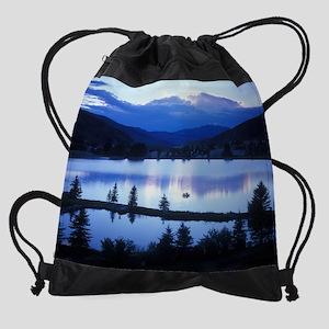 Mountain Lake Drawstring Bag