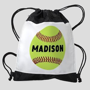 Softball Personalized Drawstring Bag
