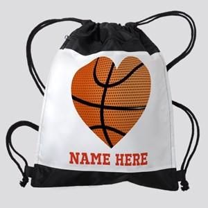 Basketball Love Personalized Drawstring Bag
