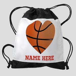 Basketball Love Personalized Drawstring Bag