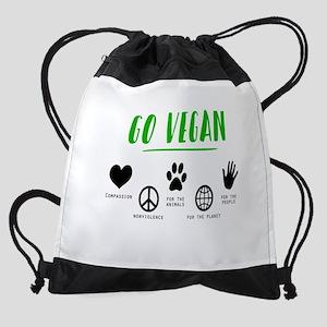 Vegan Food Healthy Drawstring Bag
