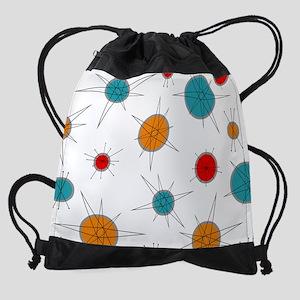 Atomic Era Planets Drawstring Bag