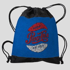 Pepsi Logo Doodle Drawstring Bag